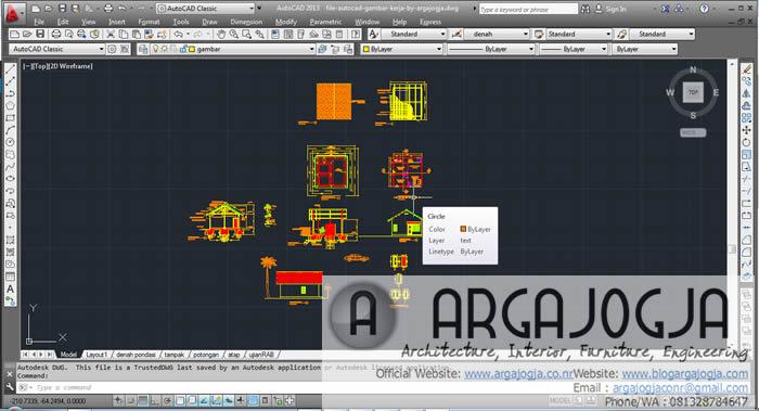 Download File Gambar Kerja AutoCAD DWG