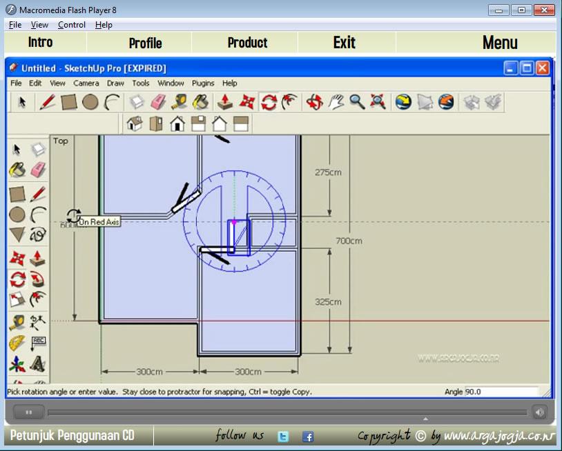 Tampilan Video Tutorial Memasukan Pintu Denah Cantik Sketchup