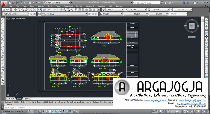 Download Gratis Berbagai Jenis Gambar Kerja Format Dwg Argajogja S Blog