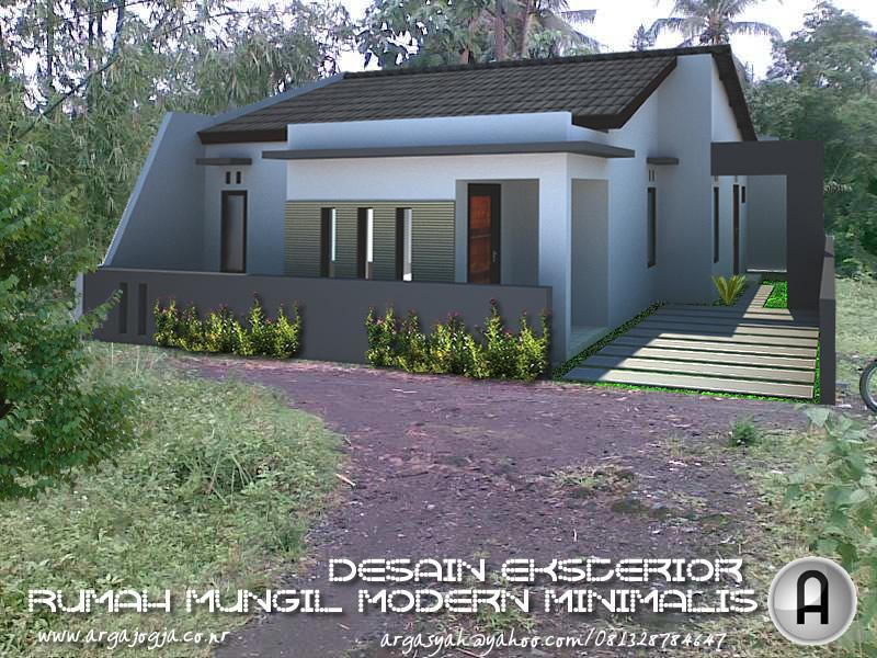 Desain Eksterior Fasad Rumah Mungil Modern Minimalis Pada Lahan 100m2