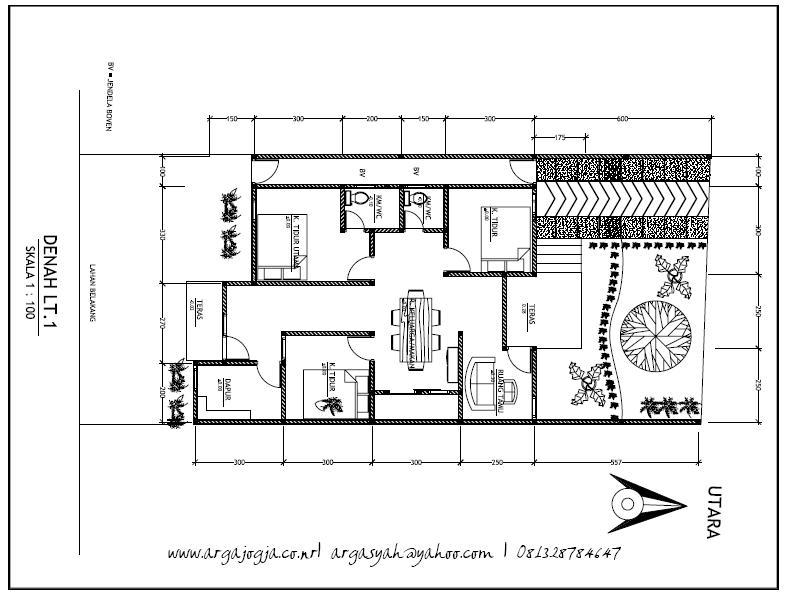 6 Ide Desain Denah Rumah Pada Lahan Memanjang Free Download Argajogja S Blog
