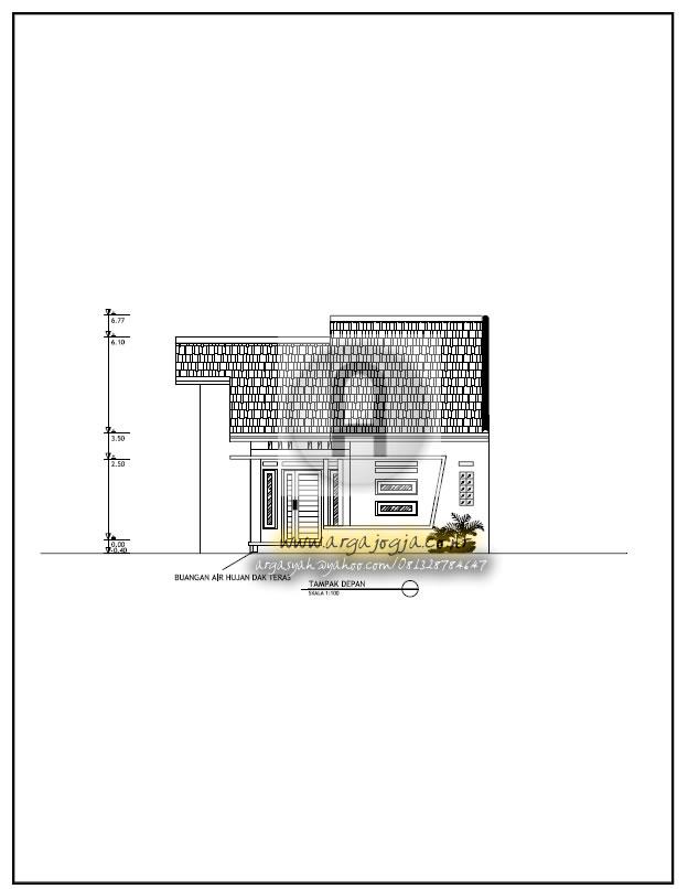 Gambar Desain Rumah Minimalis Dwg  contoh gambar kerja rumah mungil minimalis type 60