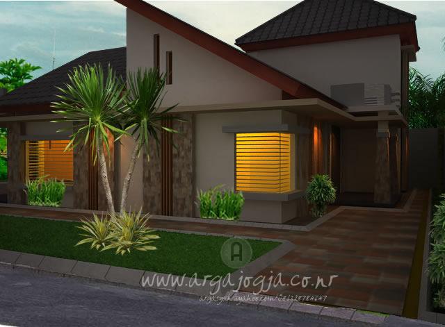 Desain Rumah Minimalis Dengan 3ds Max  desain eskterior rumah minimalis dengan atap satu sisi