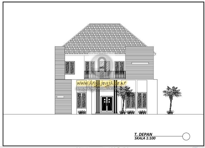 Gambar Desain Rumah Minimalis Dwg  gambar kerja arsitektural dan utilitas rumah minimalis 2