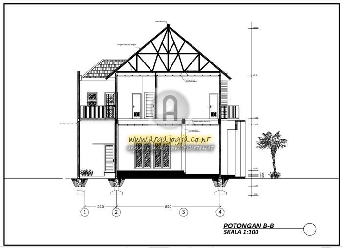 Gambar Kerja Arsitektural Dan Utilitas Rumah Minimalis 2 Lantai Di Lahan Hook Argajogja S Blog
