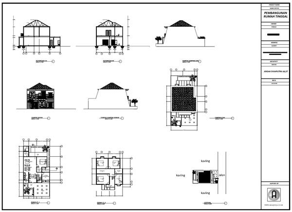 Mengenal Format Cetak Gambar Kerja Download Rumah 2 Lantai Modern Classic Kertas A0 Argajogja S Blog