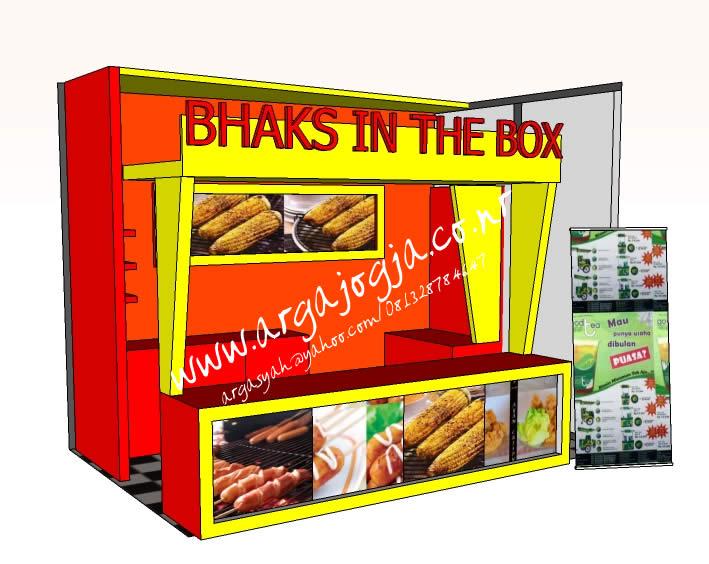 Desain Furniture Stand Booth Makanan dan Minuman SKetch