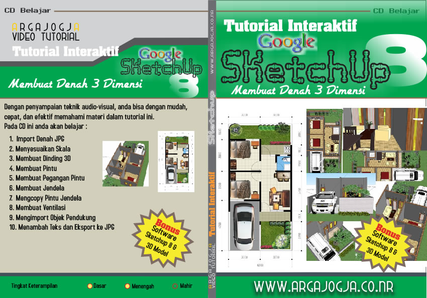 Video Tutorial Membuat Denah 3 Dimensi Dengan Sketchup 8 Available Now!!