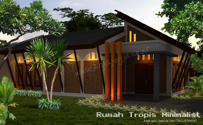 Desain Eksterior Rumah Tropis Minimalis Dengan Bata Ekspos
