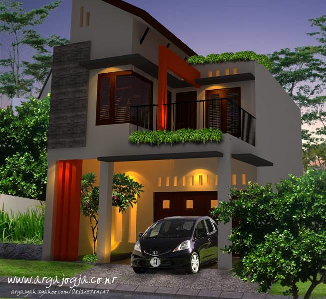 Desain Eksterior Rumah Mungil 2 Lantai Lebar 6 Meter
