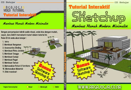 Video Tutorial Pembuatan Rumah Modern Minimalis Dengan Program SkecthUp, Available Now..!!