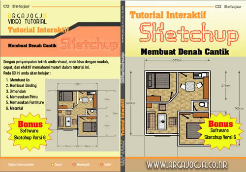Video Tutorial Interaktif Membuat Denah Cantik Dengan Sketchup Available Now..