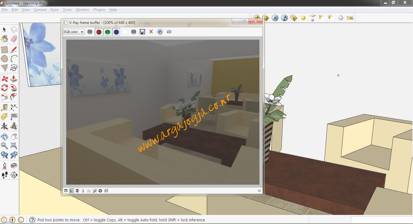 Cara Membuat Material Cermin Pada Sketchup 8 Dengan Vray