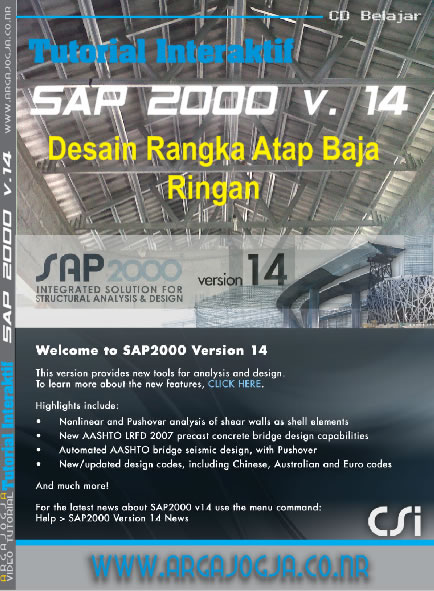 Demo Video Tutorial Gratis Memodel Rangka Atap Baja Ringan pada SAP 2000 versi 14