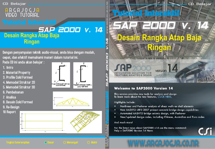 Video Tutorial Desain Rangka Atap Baja Ringan dengan SAP 2000 versi 14 Available Now