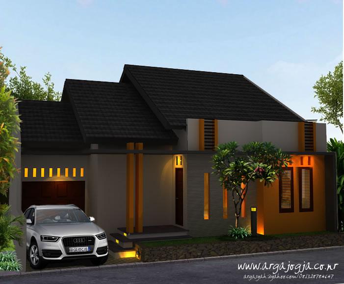 Desain Eksterior Fasad Warna Ceria Rumah Modern Minimalis