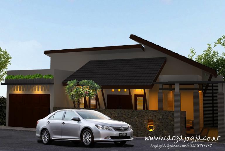 Desain Fasad RUmah Tropis Dengan Pendopo