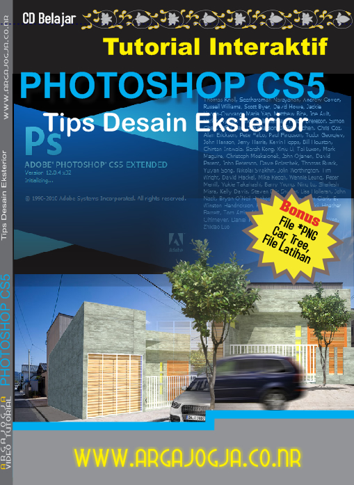 Video Tutorial Tips Desain Eksterior dengan Photoshop Cs 5 Availaile Now