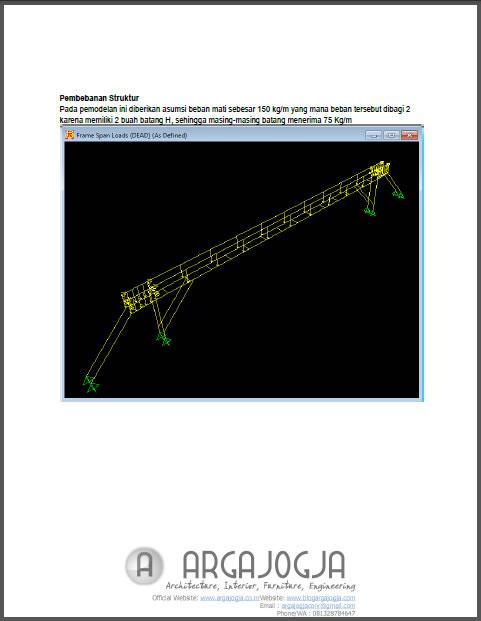 Laporan Struktur Jembatan Kabel