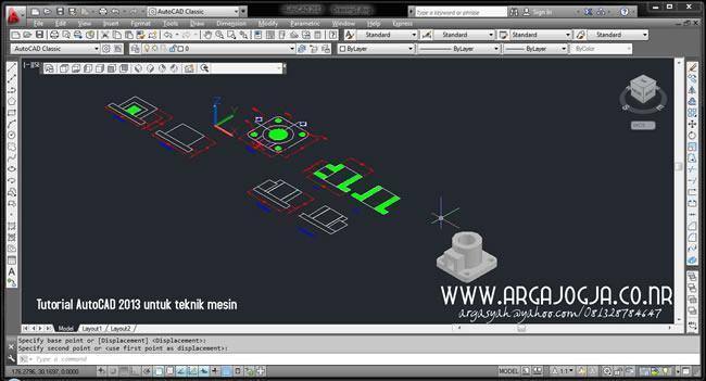 Bonus FIle Latihan Menggambar Mesin Dengan AutoCAD 2013