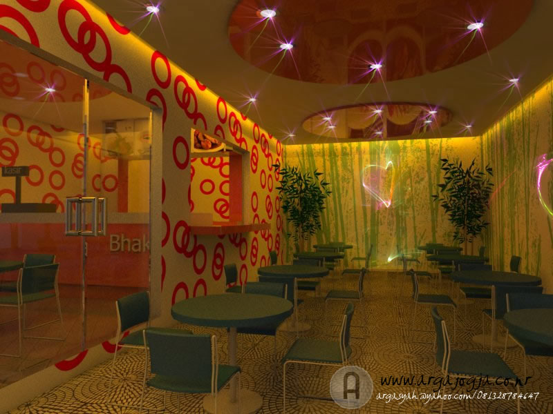 Desain Interior Cafe Glamour Yang Menawan