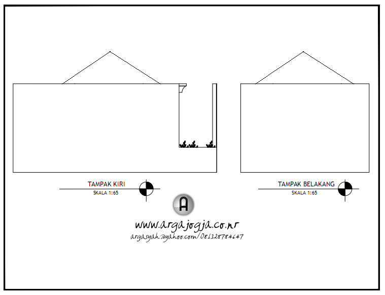 Desain Masjid Kecil Lahan Pojok Tampak Depan