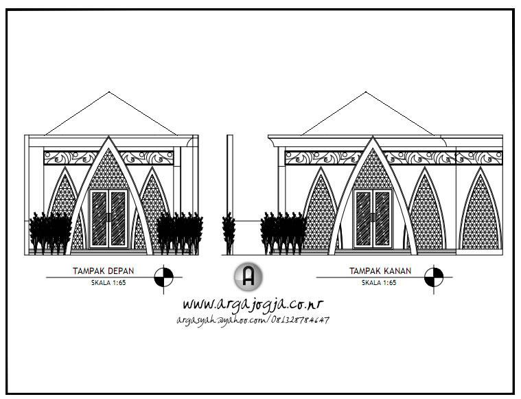 Desain Masjid Kecil Lahan Pojok