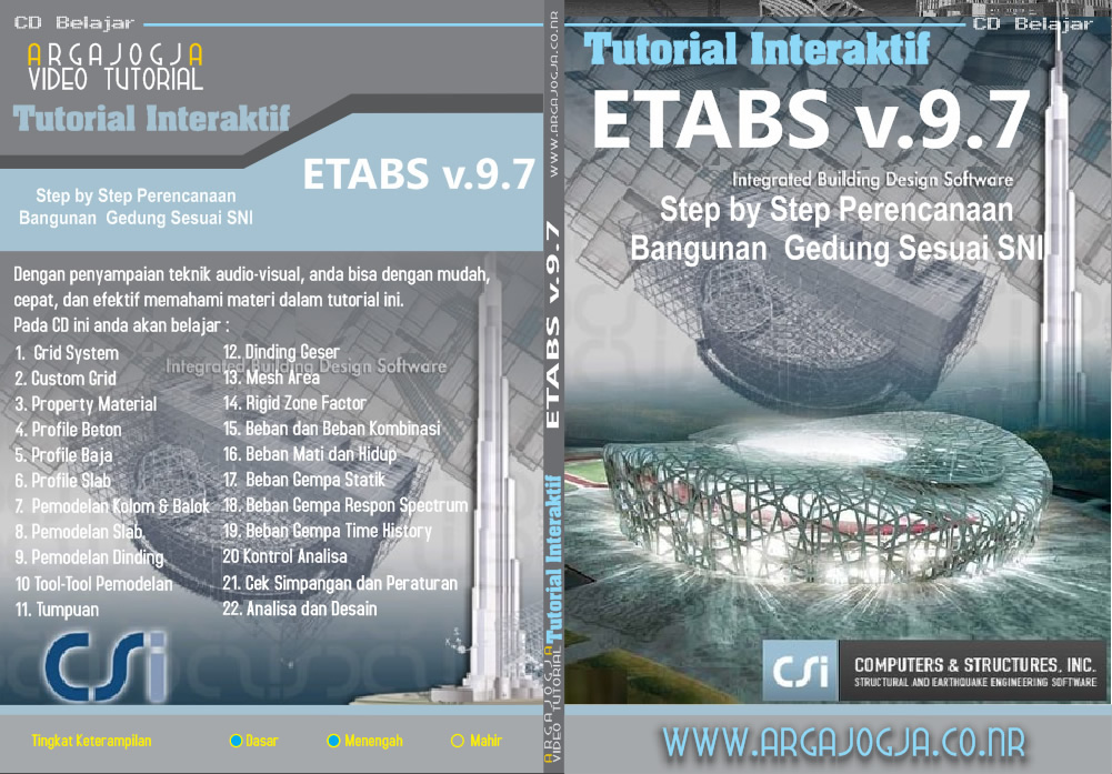 Video Tutorial ETABS Step by Step Perencanaan Bangunan Gedung Sesuai SNI Available Now