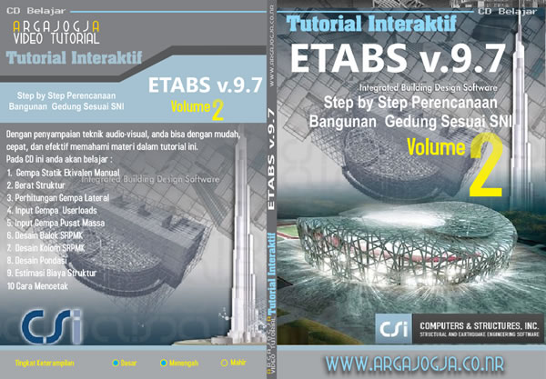Video Tutorial ETABS Step by Step Perencanaan Bangunan Gedung Sesuai SNI 2 Available Now