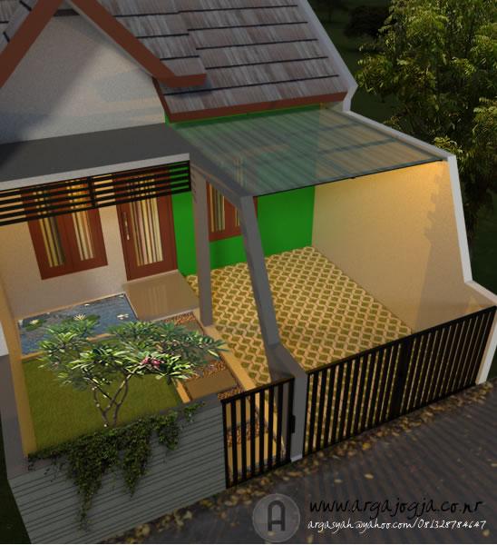 Desain Fasad Hijau Murah Meriah Unik