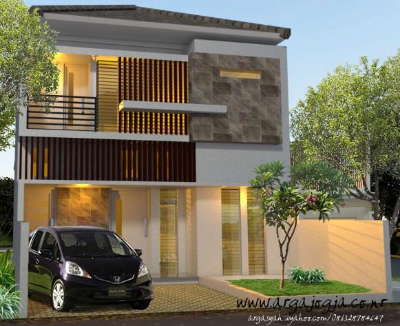 Desain Fasad Rumah 2 Lantai Modern Minimalis 2014