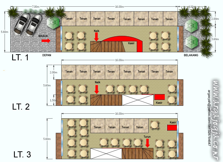 Layout Food Court 3 Lantai