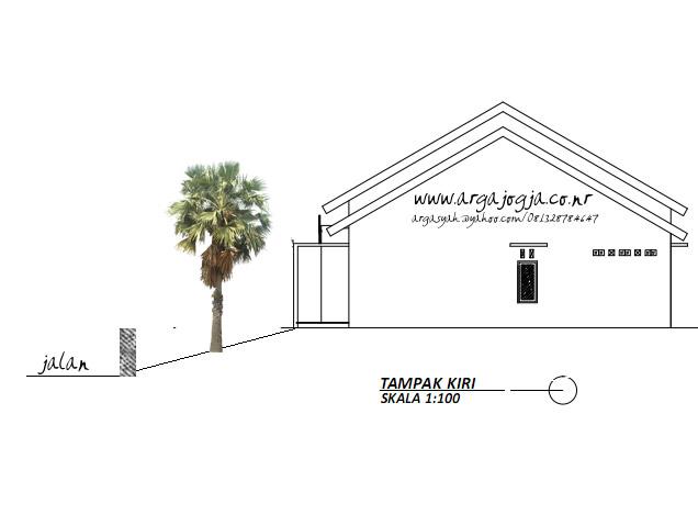 Tampak Samping Fasad Rumah Modern Minimalis di Lahan Yang Tidak Sejajar Jalan