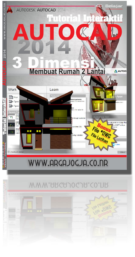 Tutorial Interaktif AutoCAD 2014 3 Dimensi Membuat Rumah 2 Lantai + File Latihan *DWG, Tree and Car