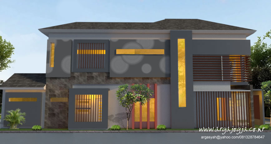 Desain Rumah 2 Lantai Lahan Memanjang Pojok Argajogja S Blog