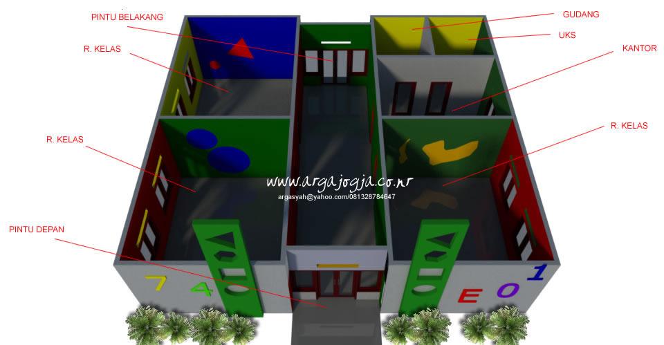Pembagian Ruang Desain Sekolah