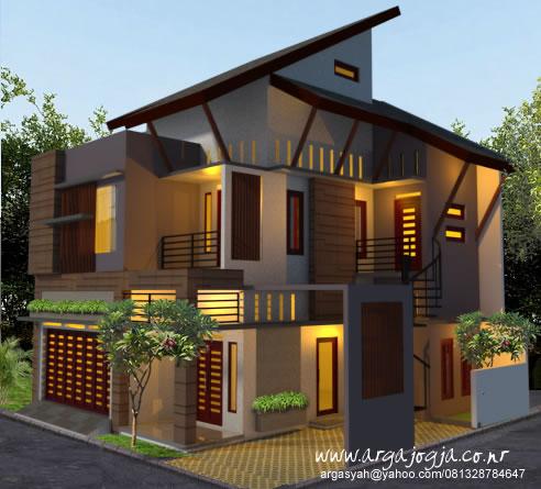 Desain Fasad Rumah Semi 3 lantai