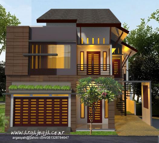 Desain 3d Rumah Modern Minimalis Semi 3 Lantai