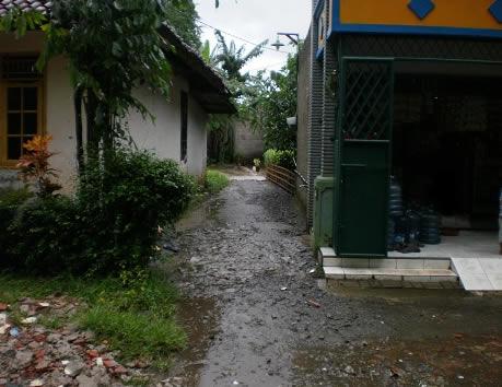Gambar Kerja Rumah Tinggal Akses Jalan Kecil