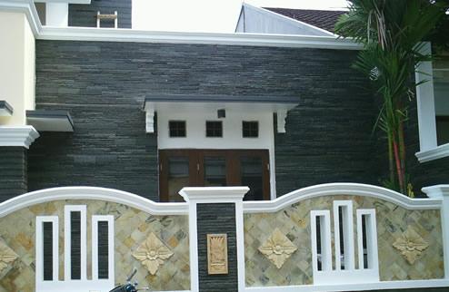 Desain 3D Renovasi Rumah Tropis Depan