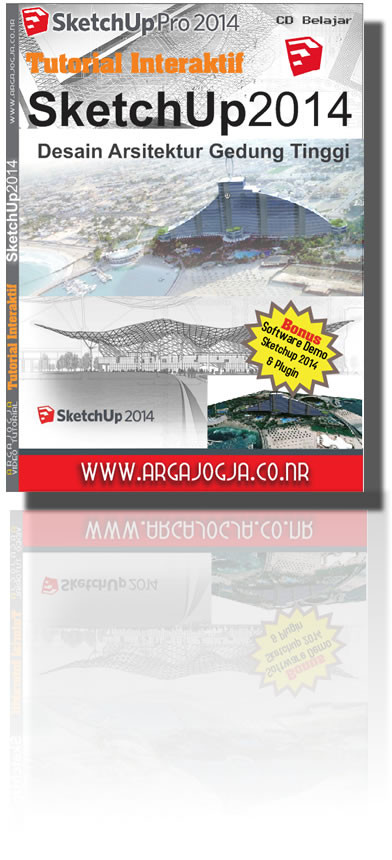 Video Tutorial SketchUp 2014 Desain Arsitektur Gedung Tinggi Bonus Software Sketchup 2014 Demo + Plugin