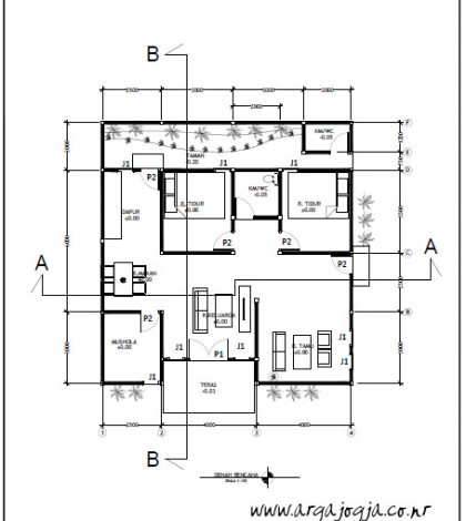 Denah Gambar Kerja Rumah
