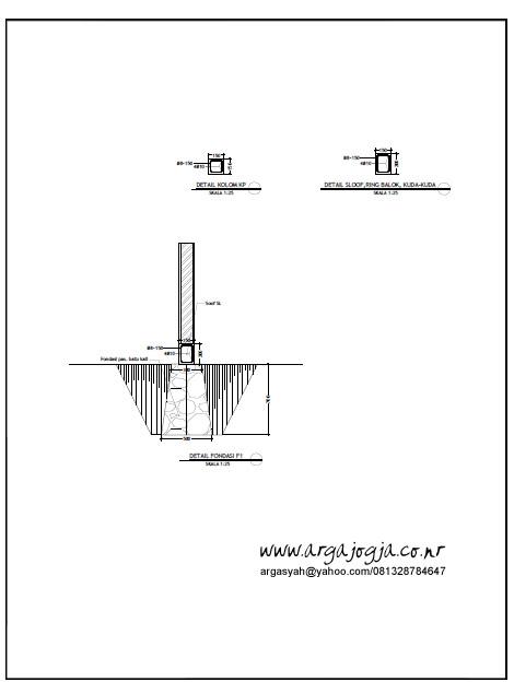 Detail Pondasi Rumah Tipe 85