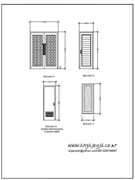 Gambar Kerja Pintu Jendela Rumah Tipe 85