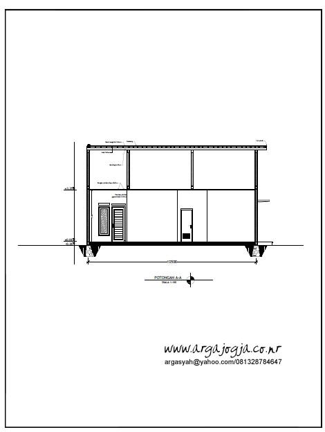 Potongan A-A Rumah Tipe 85