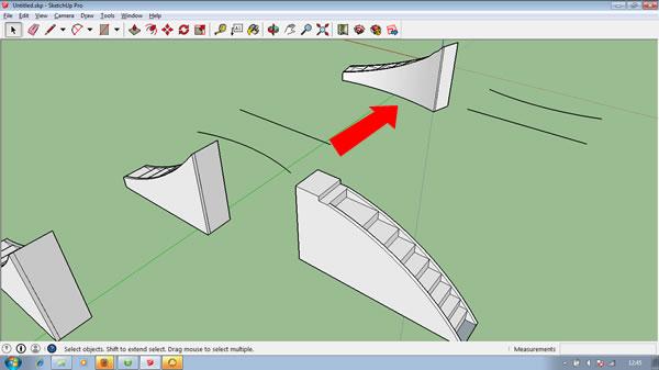 Penggunaan Plugin Shape Bender Sketchup 2014