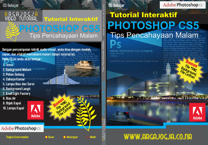 Cover Full Video Tutorial Pencahayaan Malam Dengan Photoshop