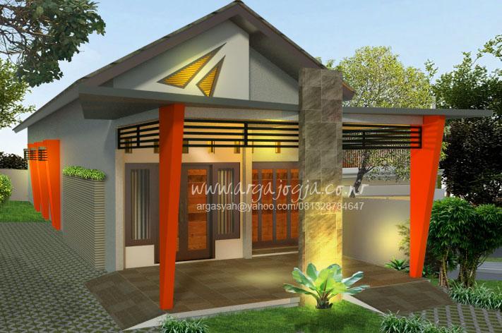Desain Fasad Unik Modern dengan Carport di Teras