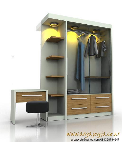 Desain Lemari Minimalis Dengan Pintu Kaca Geser