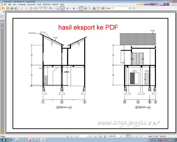 Hasil Eksport PDF AuotCAD 2015